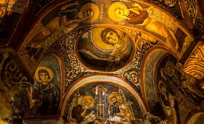 Göreme açık hava müzesi kilise freskleri