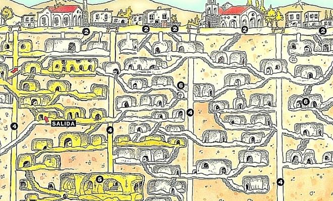 kaymaklı yeraltı şehri planı