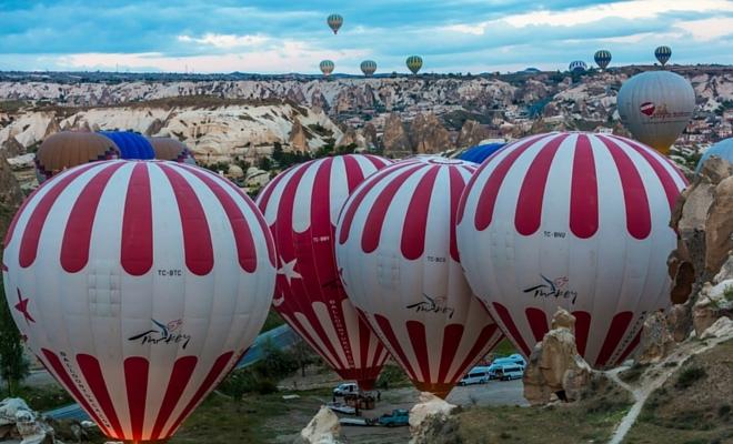 kapadokya balon kalkışı