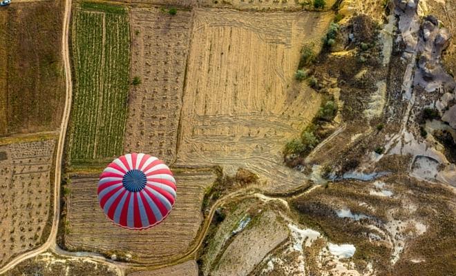 kapadokya balon turu üsten balon görünüşü